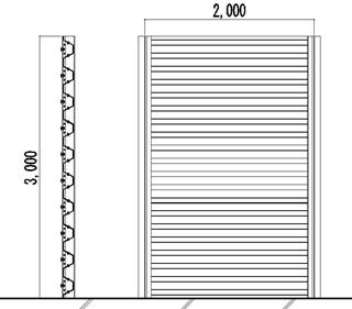 透明越波柵のタイプ